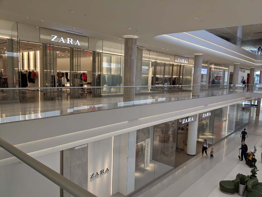 Zara at Mall of America - RCS as the commercial General Contractor